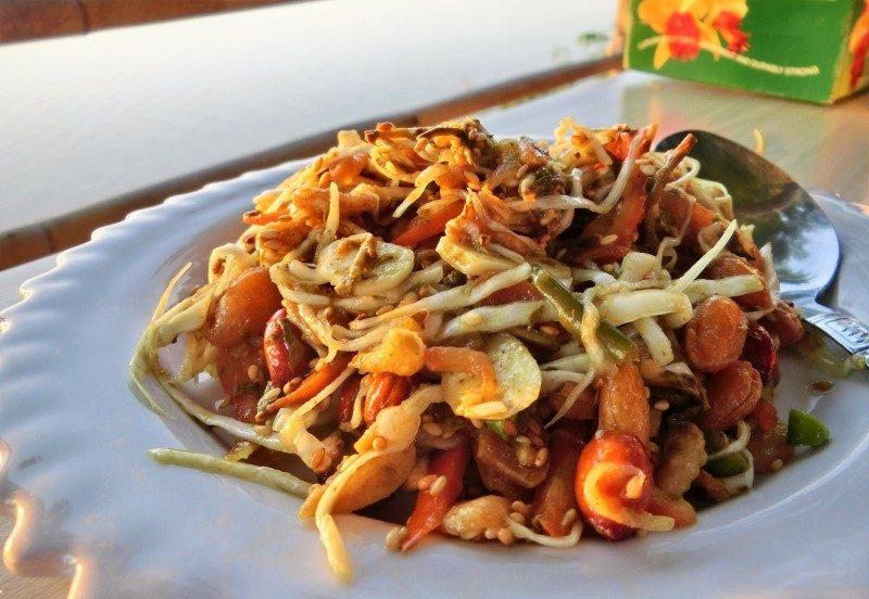 Aufstellung der Myanmar Urlaub Kosten für Essen
