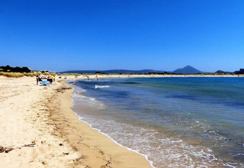 Erster Peloponnes Strand Ochsenbauchbucht Voidokilia Navarino