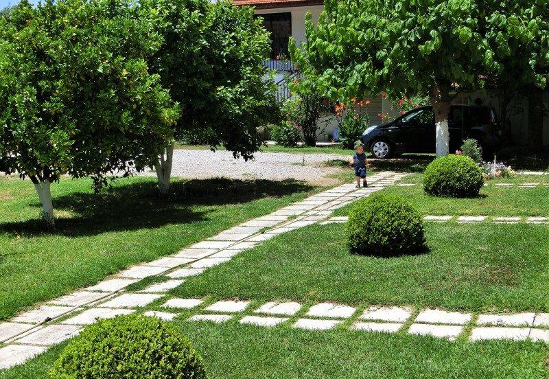 Garten von Evelyns House Zacharo auf dem Westpeloponnes