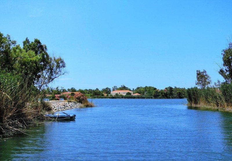 Kaiafa Fluss mit Schildkröten am Heilbad auf dem Westpeloponnes