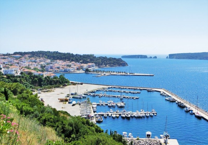 Pylos und die Navarino Bucht auf dem Peloponnes in Griechenland