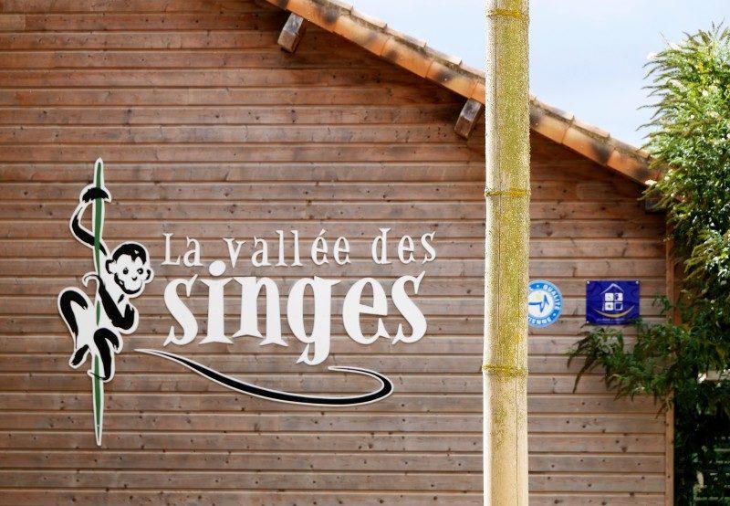 Vallée des Singes Romange Tal der Affen Eingang