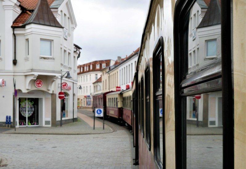 Mecklenburgische Bäderbahn Molli durch Bad Doberan