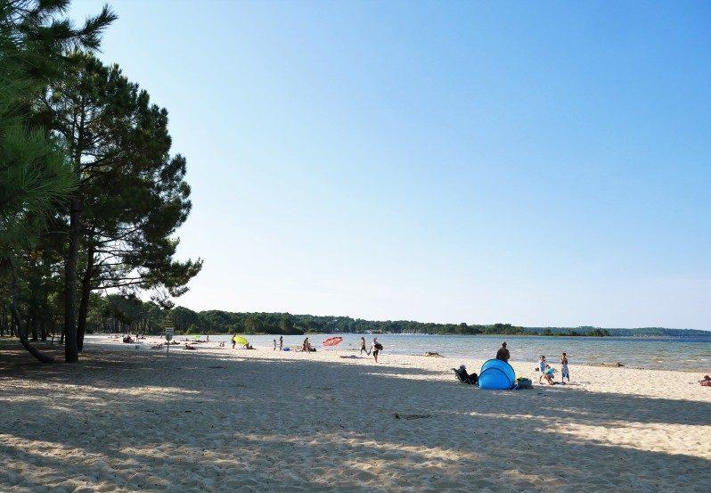 Navarosse am Lac Cazaux-Saguinet einer der schönsten Strände in Frankreich