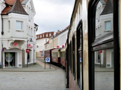 Molli Bahn in Bad Doberan an der Ostseeküste