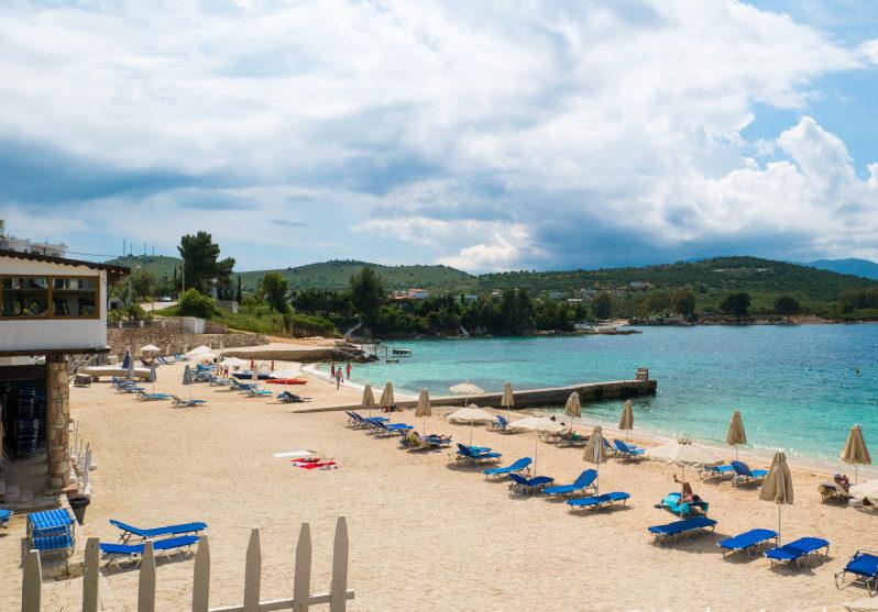 Strand Ksamil im Albanien Urlaub