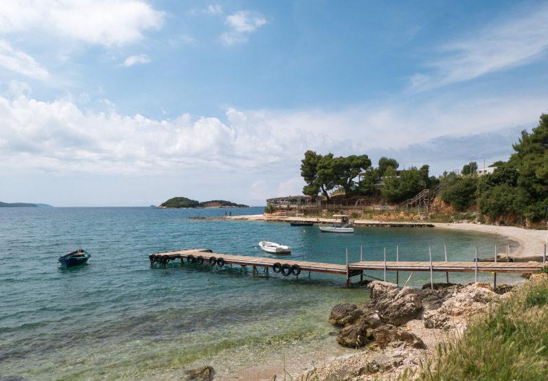 Albanien Urlaub am Küstenabschnitt in Ksamil