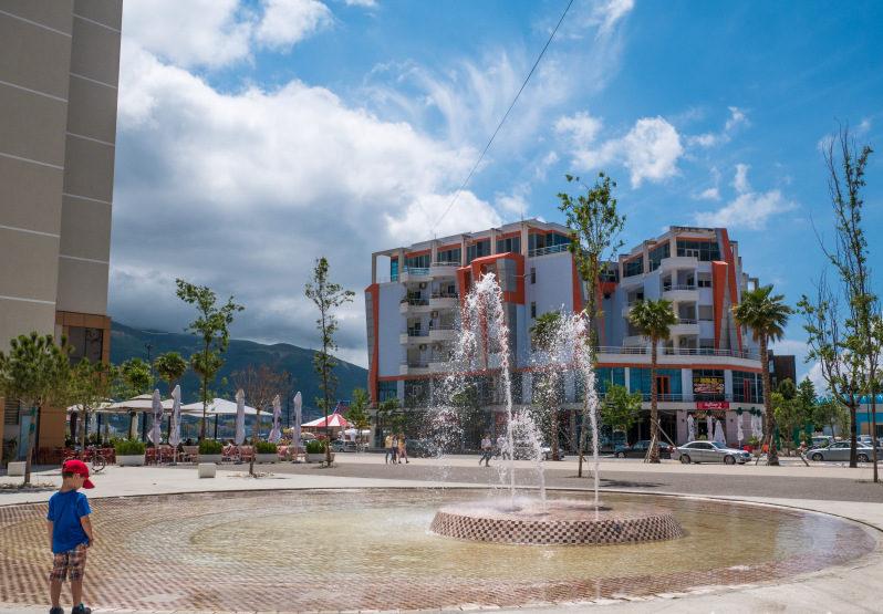 Springbrunnen Vlora im Albanien Urlaub