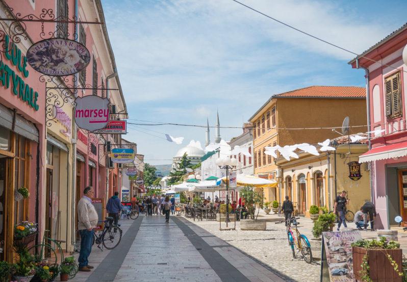 Innenstadt von Shkodra während unseres Albanien Urlaubs