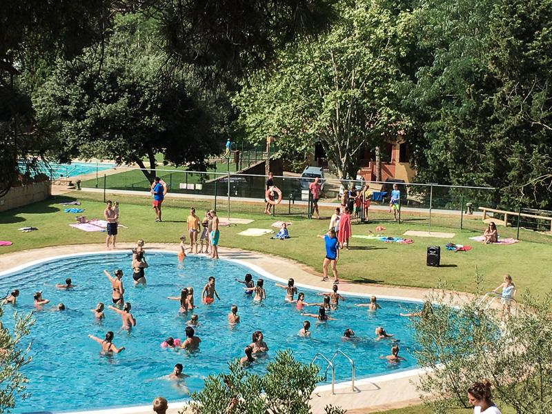 Wassergymnastik Campingplatz