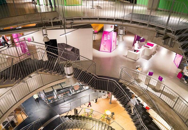 Helix Treppe im Universum Bremen