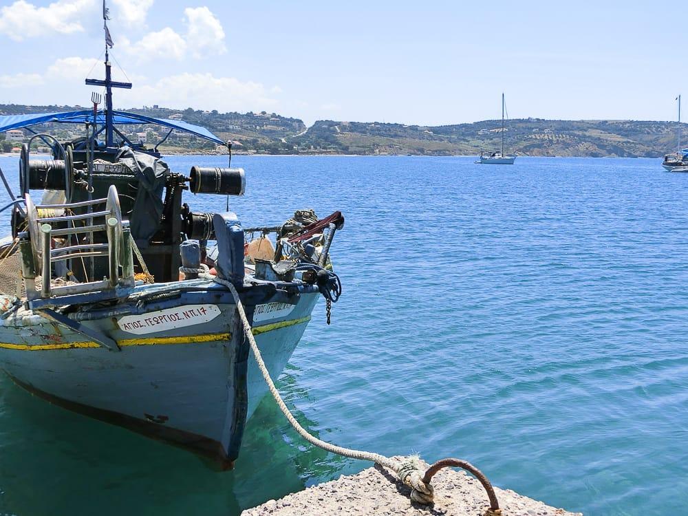 Boot auf dem Peloponnes