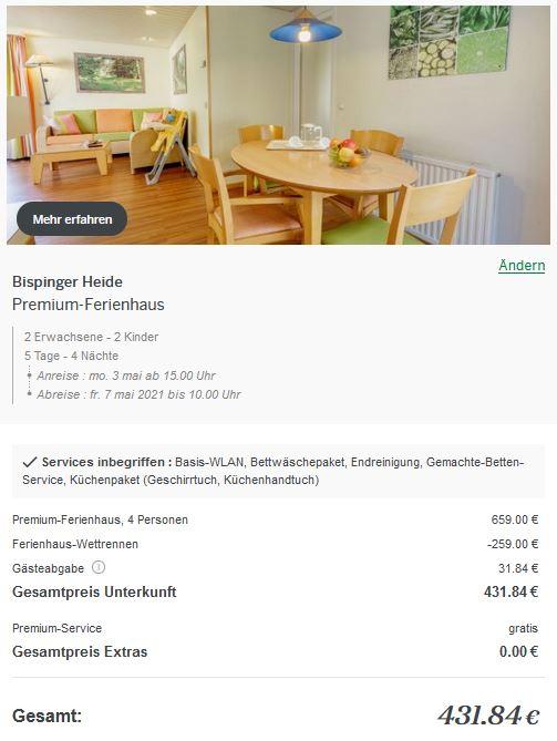 Center Parcs Ferienhaus Wettrennen Bispinger Heide Premium