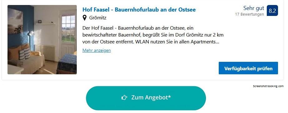 Bauernhofurlaub Ostsee Hof Faasel
