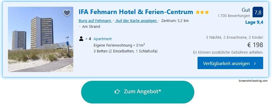 Ferienpark Ostsee Ferien-Centrum IFA Fehmarn Hotel