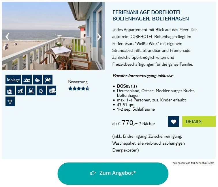 Ferienpark Ostsee Ferienanlage Dorfhotel Boltenhagen