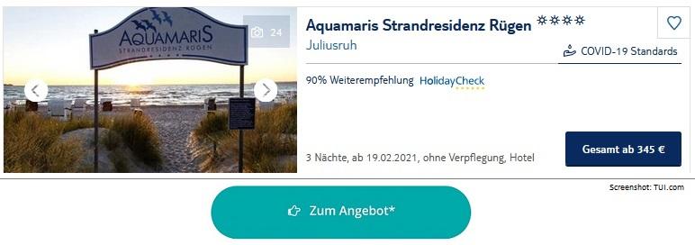 Ferienpark Ostsee Aquamaris Strandresidenz Rügen