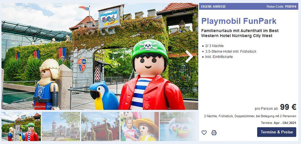 Playmobil Fun Park Übernachtung