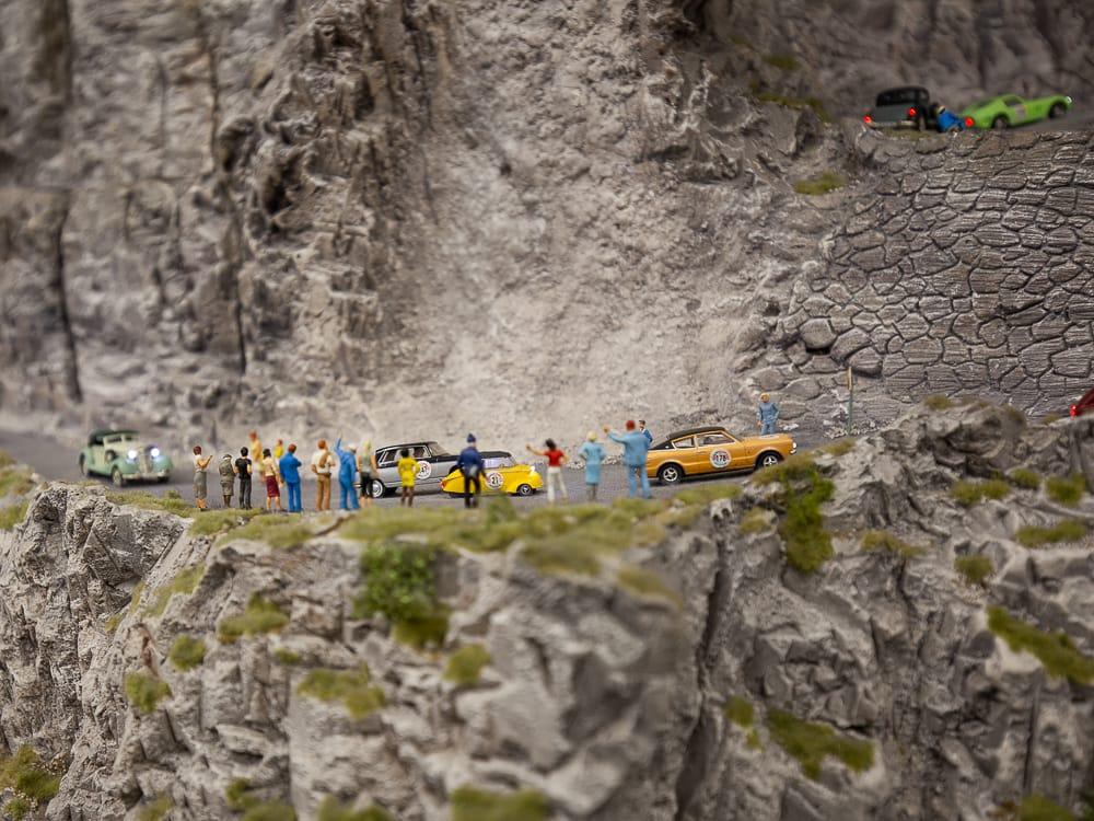 Ein Autorennen im Miniatur Wunderland