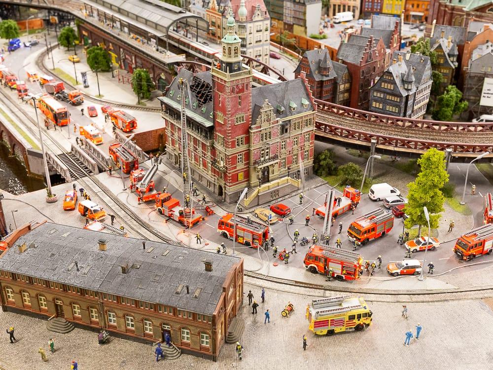 Grossbrand im Hamburger Miniatur Wunderland