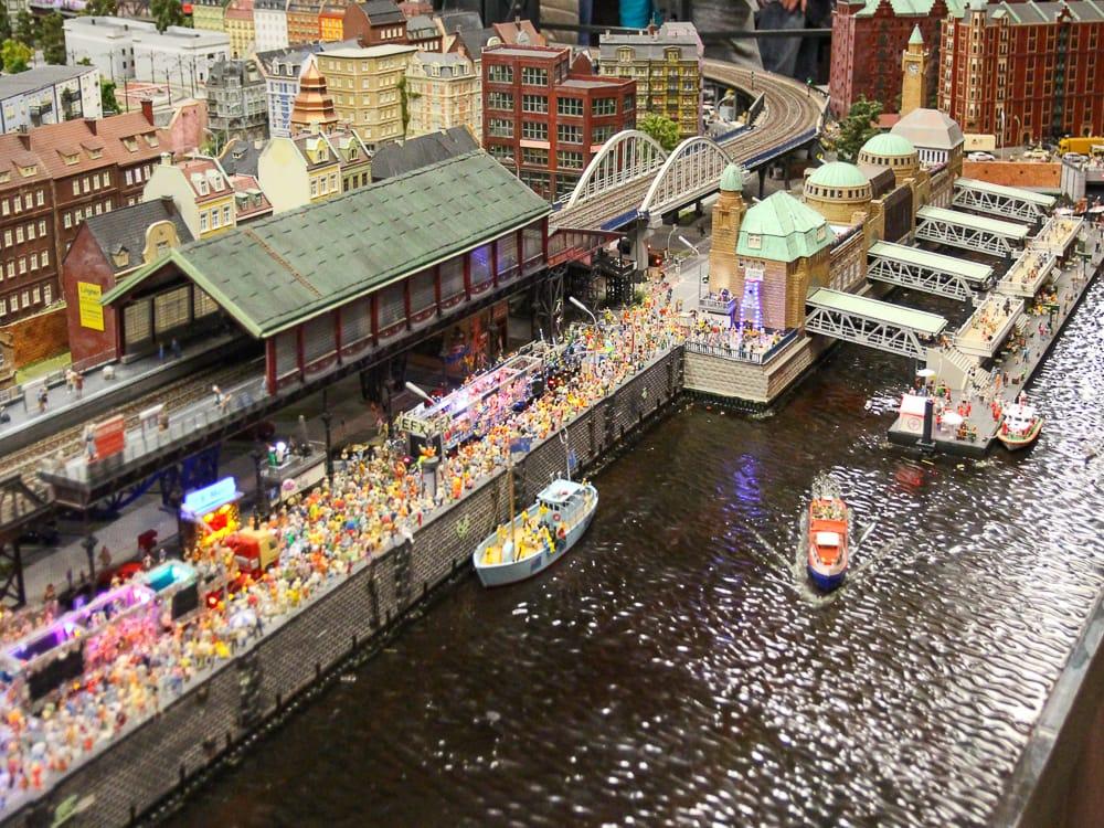 Ausstellung der Miniaturmuseum im Miniaturwunderland Hamburg