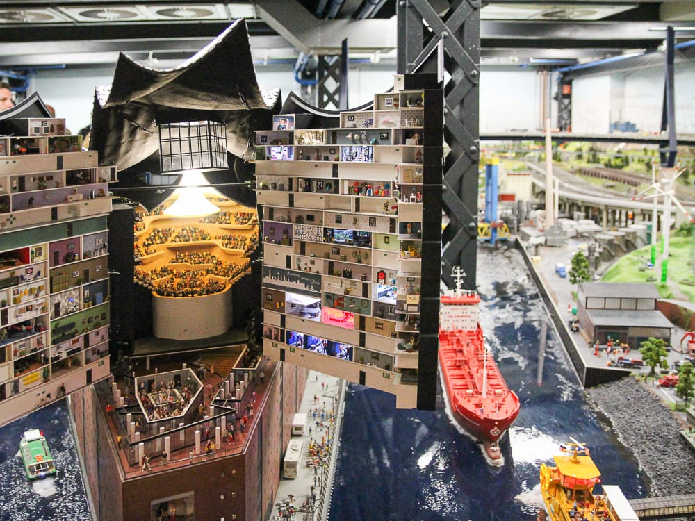 Die Elbphilharmonie im Miniaturmuseum Hamburg