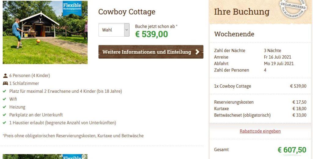 Slagharen Cowboy Cottage