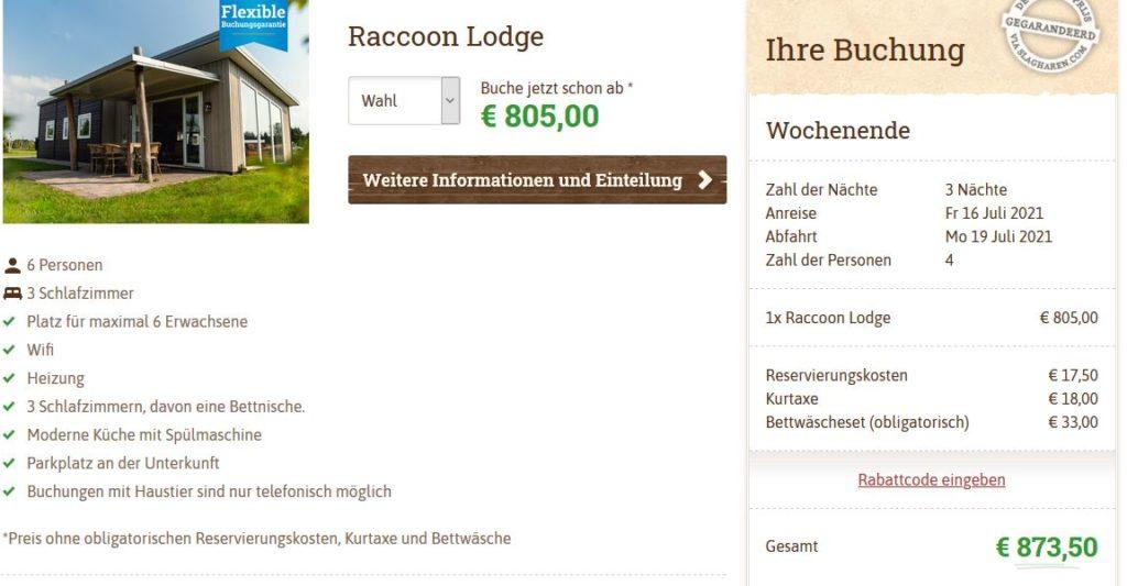 Slagharen Raccoon Lodge