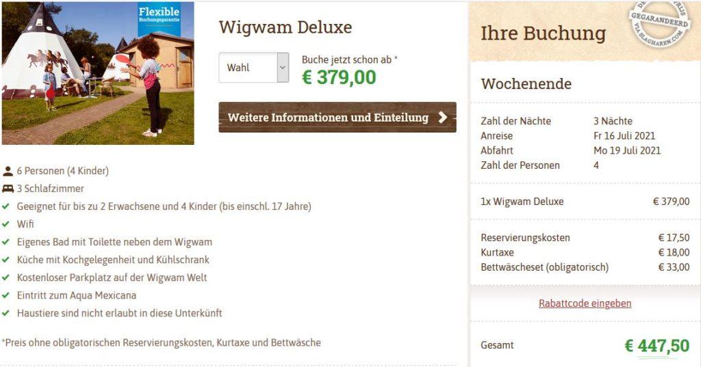 Slagharen Wigwam Deluxe