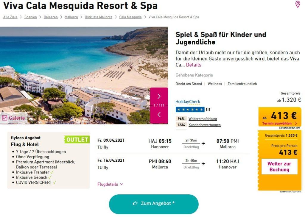 Mallorca Familienhotels Viva Cala Mesquida Resort Spa April 2021