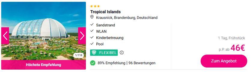 Tropical Islands Angebote 2021 Last Minute