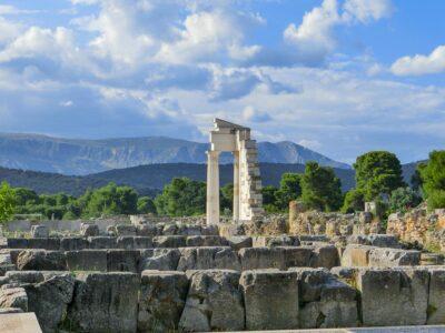 Ausgrabungen bei Epidaurus Griechenland Peloponnes