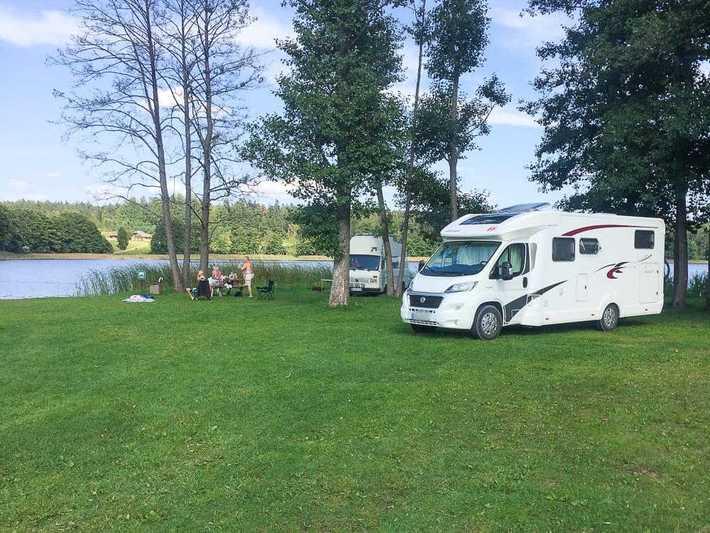 Campingplatz für Wohnmobil-Urlaub für Kinder