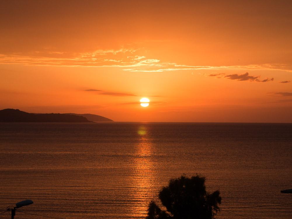 Ksamil Albanien Strände Sonnenuntergang
