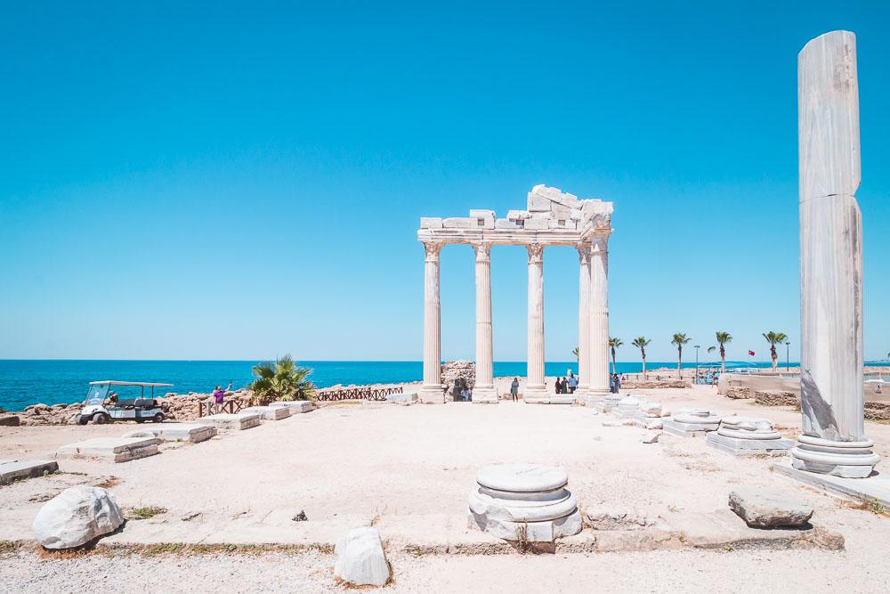 Apollon Tempel Wahrzeichen von Side in Antalya