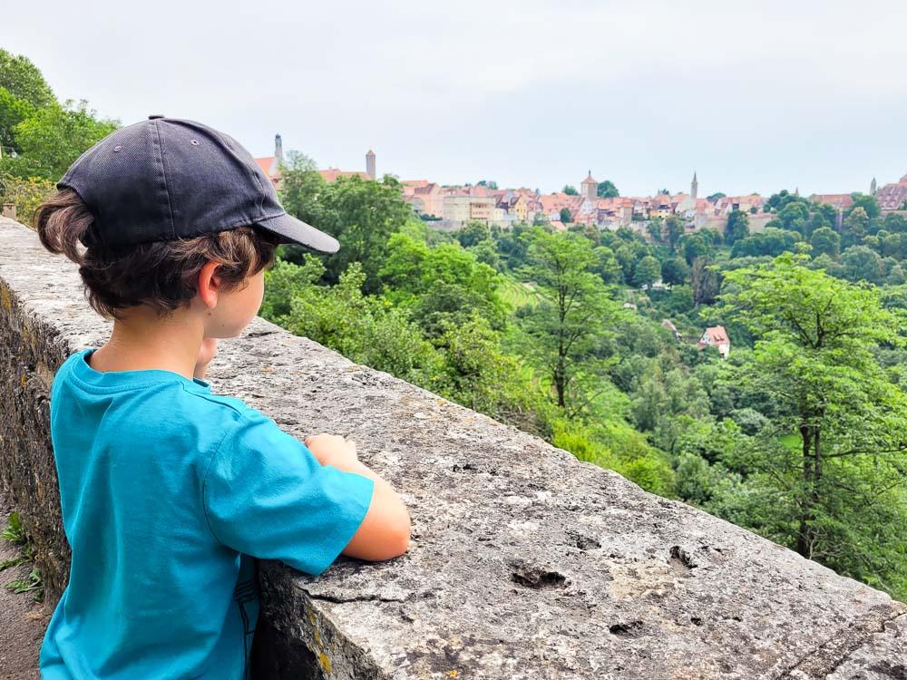 Rothenburg ob der Tauber Aussicht vom Burggarten