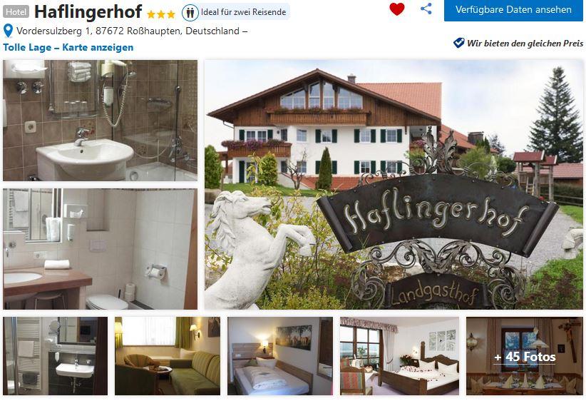 Kinderhotel Süddeutschland Haflinger Hof