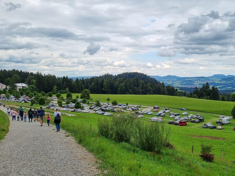 Parken am Skywalk Allgäu
