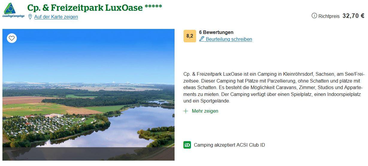 Ferienpark Sachsen LuxOase